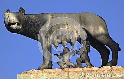 Capitoline Wolf Romulus Remus Statue Rome