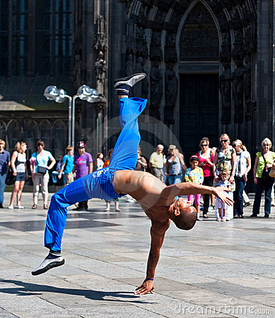 Capoeira Acrobatic Kick  Cologne, Germany Editorial Image
