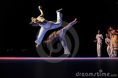 Capoeira Performance Editorial Stock Photo