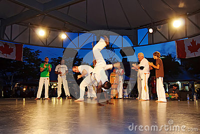 Capoeira Performance Editorial Stock Photo