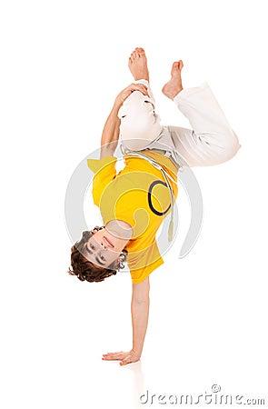 Capoeira style dancer