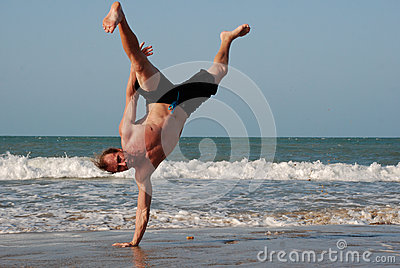 Capoeira Training on the beach