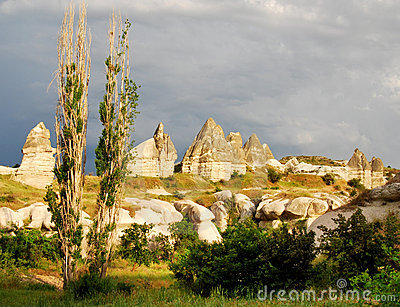 Cappadocia landscape with fairy chimneys