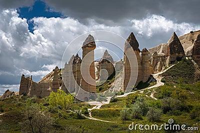 Cappadocia,Turkey. Love valley in Goreme national park Stock Photo