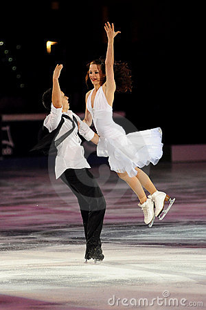 Cappellini e Lanotte at 2011 Golden Skate Award Editorial Stock Image