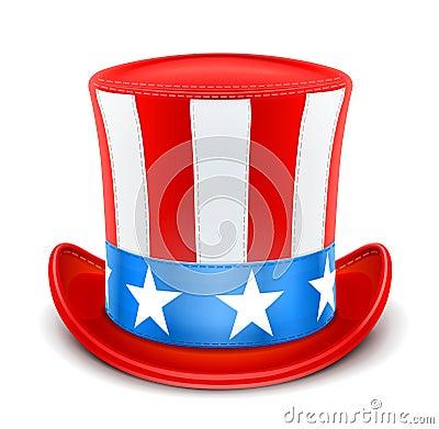 Cappello superiore degli S.U.A. per la festa dell indipendenza