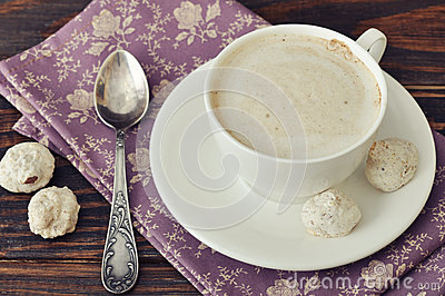 Cappuccino with  biscotti