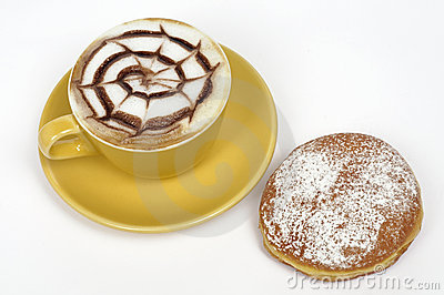 Cappuccino and krapfen