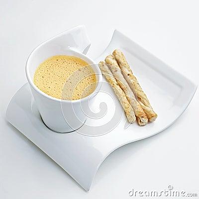 Cappuccino lobster cream soup
