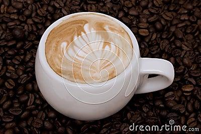 Cappuccino with rosetta