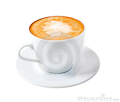 Cappuccino Time.late Coffee Isolated Stock Photo - Image: 9175940
