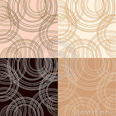 Cappuccino, vanilla and chocolate backgrounds