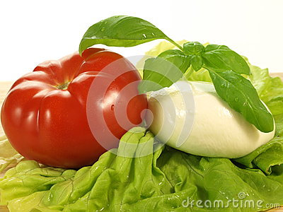 Caprese ingredients