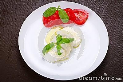 Caprese - italian mozzarella cheese with tomatoes