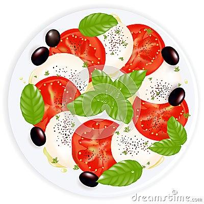 Caprese Salad. Vector