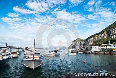 Capri, boats
