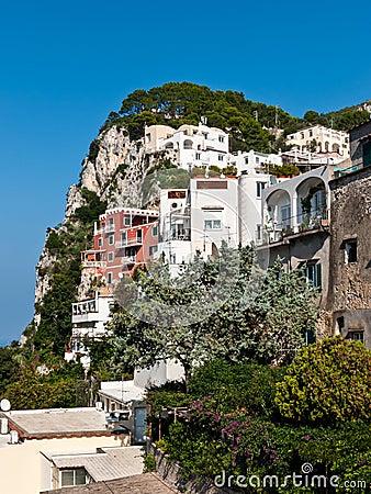Free Capri Buildings Royalty Free Stock Photos - 48212468