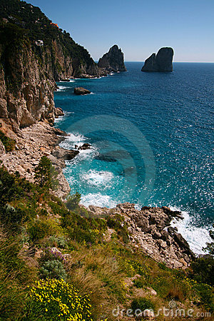 Free Capri Coastline Stock Photography - 10372852