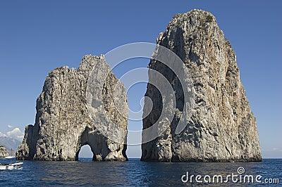 Capri Faragliono Rocks