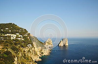 Capri island in Campania province, Italy