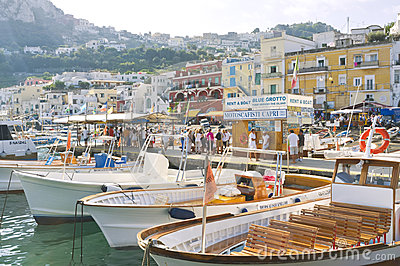 Capri Marina  Italy Editorial Stock Photo