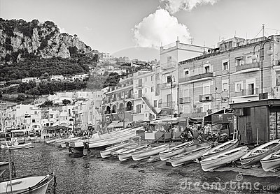 Capri Waterfront, Italy Editorial Photography