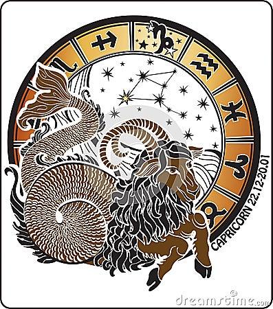 Free Capricorn And The Zodiac Sign.Horoscope Circle.Vec Stock Photos - 35729083