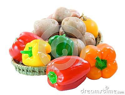 Capsicum potatoes and squash