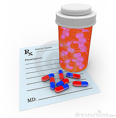 Capsule Pills - Prescription and Medicine Bottle