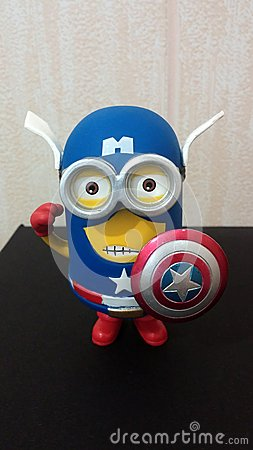 Captain America Minion Editorial Stock Photo