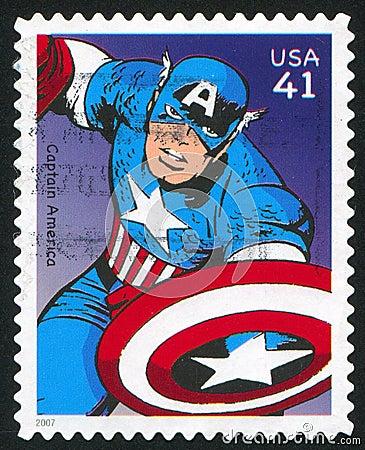 Captain America Editorial Photo
