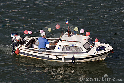 Captain of the boat on carnival Editorial Stock Photo