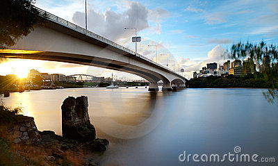 Captain Cook Bridge - Brisbane City Sunset
