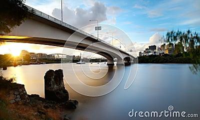 Captain Cook Bridge - Brisbane City Sunset