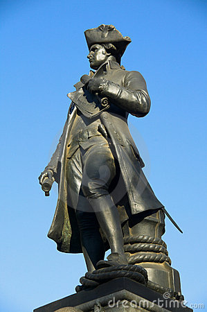 Free Captain Cook Statue Stock Photos - 3333323