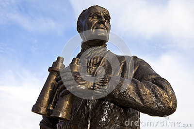 Captain Frederic John Walker Statue at the Pier Head in Liverpoo