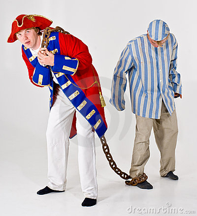 Captain and his prisoner