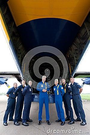 Captain A.J. Harrell Fat Albert Blue Angels Editorial Stock Image
