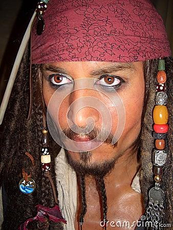 Captain Jack Sparrow Johnny Depp Editorial Image
