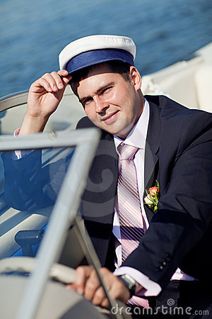 Captain managing the yacht