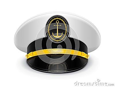 Captain peaked cap with cockade