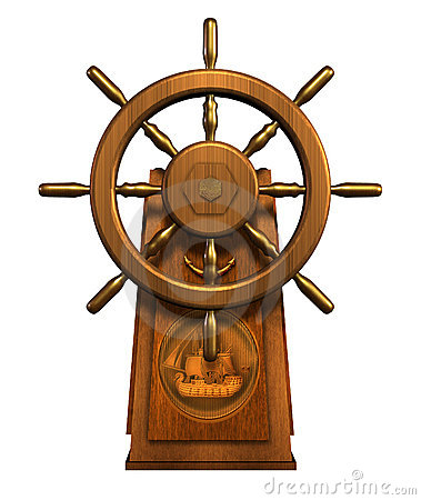 Free Captain S Wheel - Includes Clipping Path Stock Photos - 691013