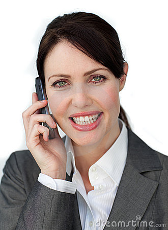 Captivating businesswoman using a mobile phone