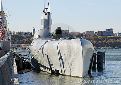Capture of a docked submarine at a pier
