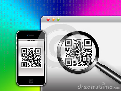 Capture a QR ( Quick Response ) Code Editorial Photo