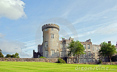 Capture of vibrant irish castle in county clare