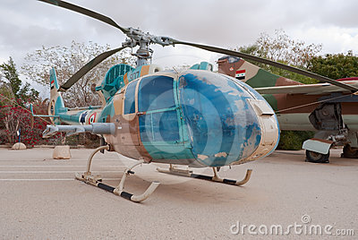 Captured SA-341L Gazelle Editorial Stock Image