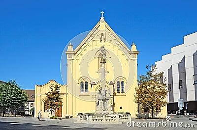 Capuchin Church in Bratislava, Slovakia. Editorial Stock Image