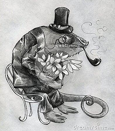 Carácter de lujo del camaleón