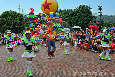 Caráteres pixar de Disney na parada Foto de Stock Editorial